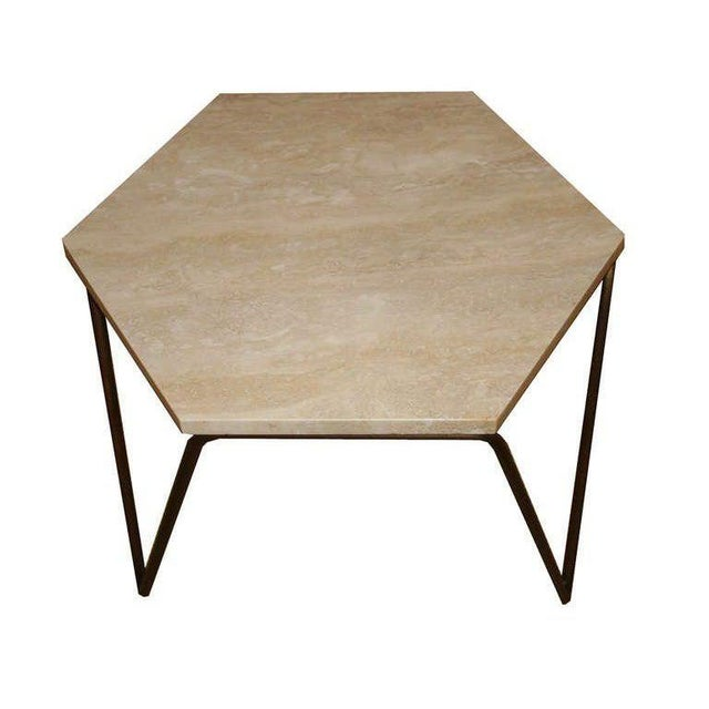 Customizable Tom Tripod Hexagon Table For Sale In New York - Image 6 of 6