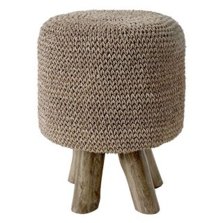 Handcrafted Woven Foot Stool