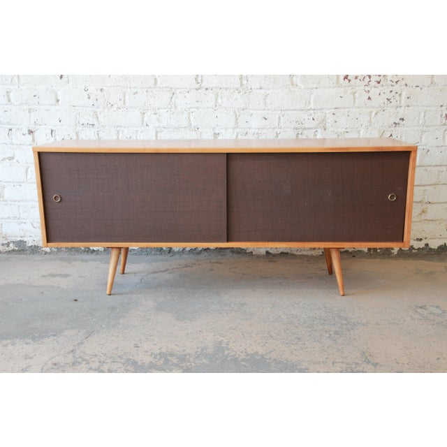 "An exceptional mid-century modern credenza or record cabinet designed by Paul McCobb for his ""Planner Group"" line for..."
