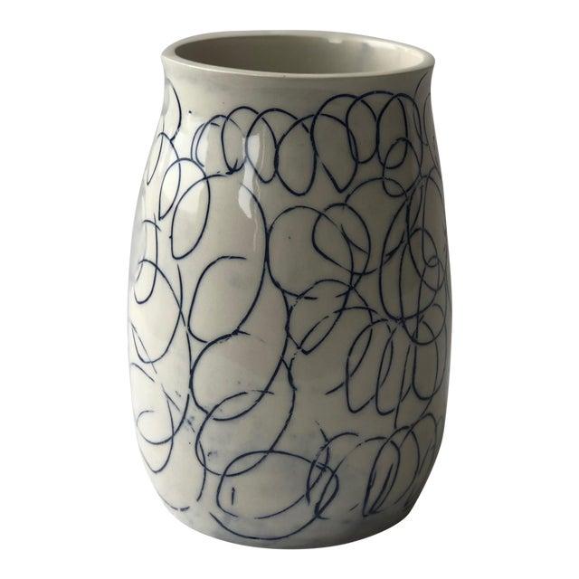 Cobalt Loop the Loop Vase For Sale