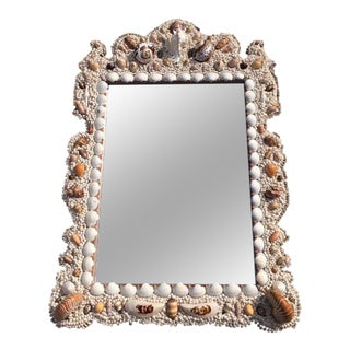Seashell Encrusted Wall Mirror