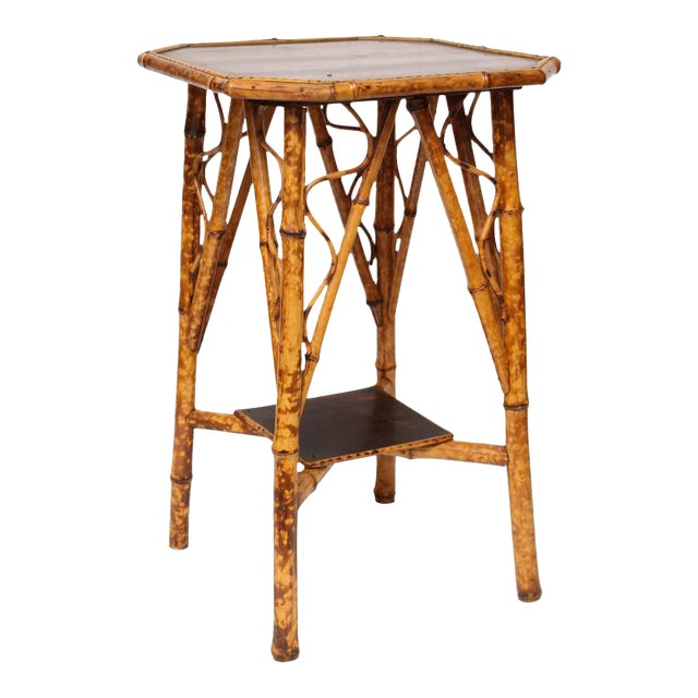 19th Century English Bamboo Lacquer Side Table - Image 1 of 6