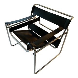 1980s Vintage Wassily Style Chair For Sale