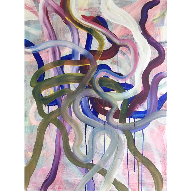 Paint Large Original Abstract Painting by Jessalin Beutler For Sale - Image 7 of 7