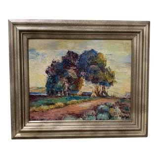 Vintage Framed Oil Painting For Sale