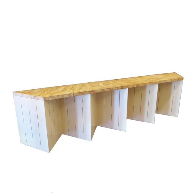 Wood Mid-Century Lighted Wall Mounted Console For Sale - Image 7 of 7