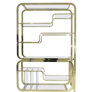 Mid-Century Modern Brass and Glass Modular Cantilever Etagere by Milo Baughman Preview
