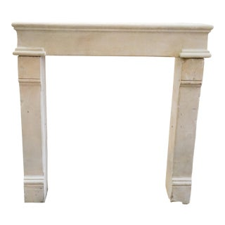 Louis XIV Limestone Fireplace For Sale