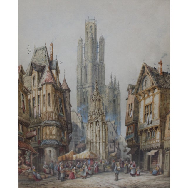 French Original Watercolor by Henri Schafer For Sale - Image 3 of 5