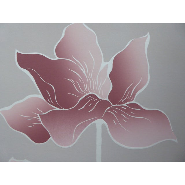 Contemporary 1980s Graphic Waterlily with Shell Serigraph II For Sale - Image 3 of 7