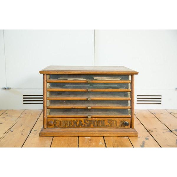 Antique Victorian Eureka Silk Spool Cabinet - Image 2 of 8