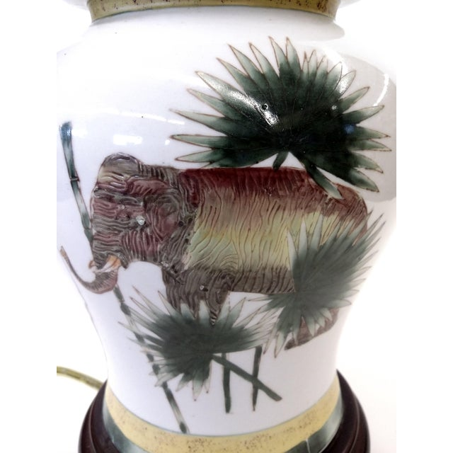 Safari Style Porcelain Elephant Lamp - Image 3 of 10