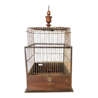 Antique Square Birdcage For Sale