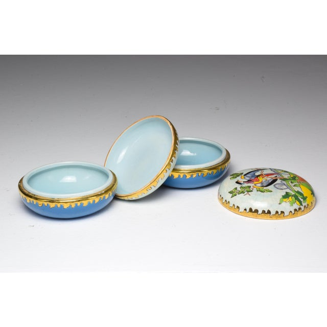 Pair of 20th Century French Trinket or Jewelery Longwy Boxes For Sale - Image 9 of 13