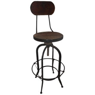 Fantastic Industrial Architect Stool For Sale