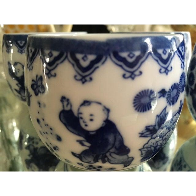 Blue & White Porcelain Tea Cups - Set of 4 - Image 5 of 8