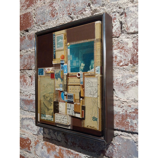 1970s Roderick Slater -One to Nine - Mixed Media Collage Painting For Sale - Image 5 of 7