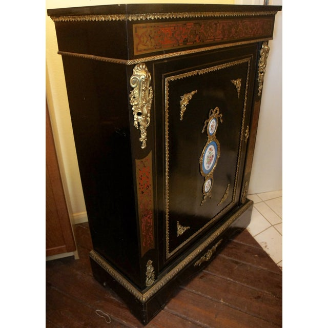Authentic Meuble Boulle Napoléon III Cabinet - Image 3 of 9
