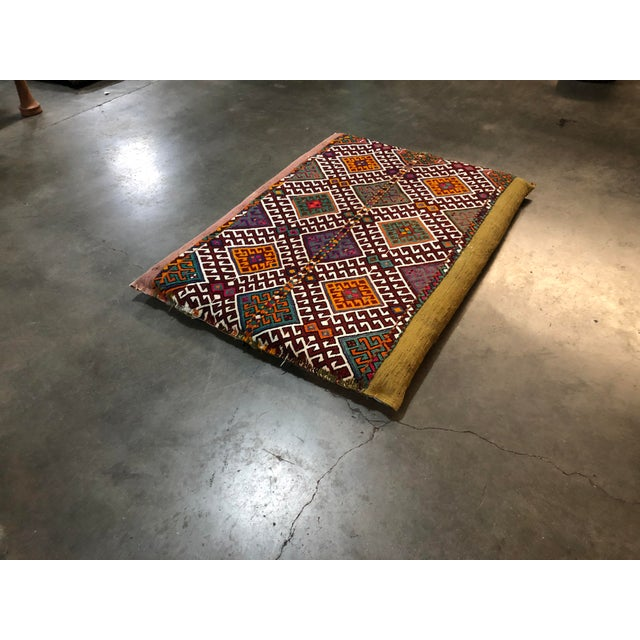 Turkish Kilim Floor Cushion For Sale - Image 9 of 11