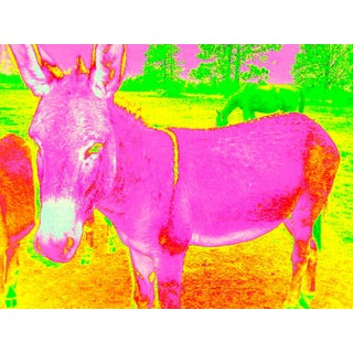 Suga Lane Pink Donkey Limited Edition Print For Sale