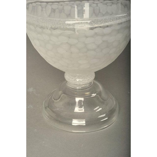 Seguso Vietri Large Glass Apothecary Jar For Sale - Image 9 of 9