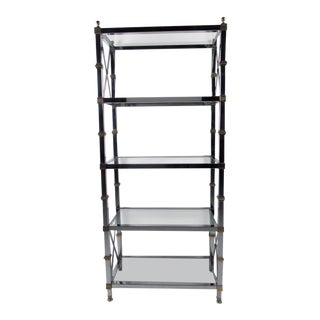 Maison Jansen Style Etagere in Chrome and Brass