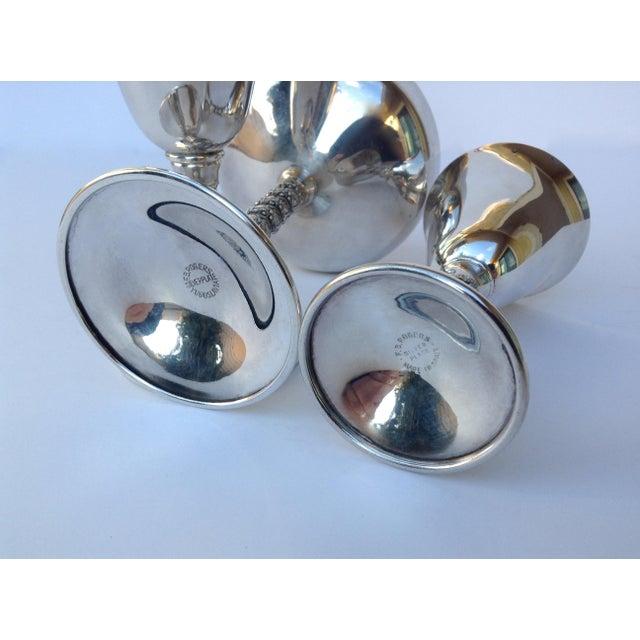 "Vintage Silver Plate Spanish ""Valerio"" Drinks Server Ware- Set of 12 For Sale - Image 10 of 11"