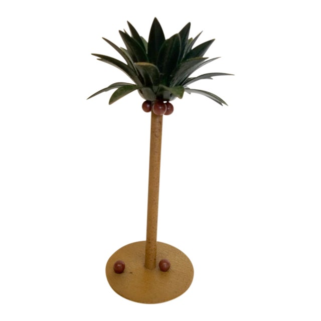 Petite Choses Tole Palm Tree Candlestick For Sale