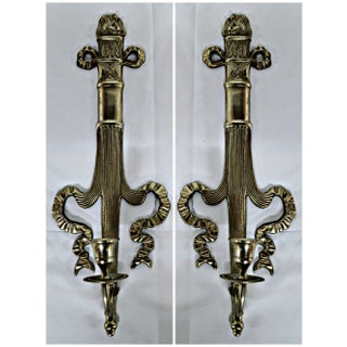 Neoclassical Style Candle Sconces - A Pair Preview