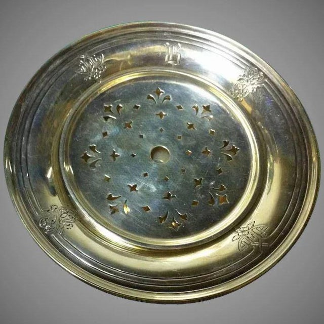 Sterling Silver Butter/Cheese Dish With Removable Liner For Sale - Image 10 of 10