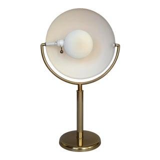 """Vintage 1970s Art Deco Bauhaus Style Brass """"Eclipse"""" Design Table Lamp For Sale"""