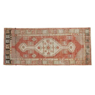 "Vintage Distressed Oushak Rug Runner - 2'4"" X 5'6"""