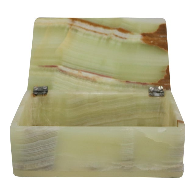 Mid-Century Marbled Onyx Box For Sale