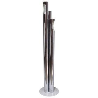 Mid 20th Century Italian Tubular Chrome Floor Lamp For Sale