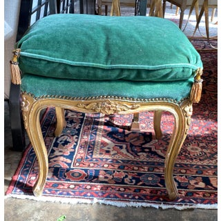 18th Century Green Upholstered Napoleonic Bench Preview