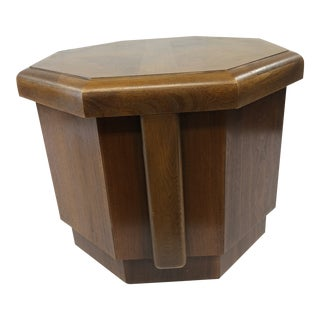 Vintage Mid Century Modern Side Table Storage Cabinet by Lane Furniture For Sale