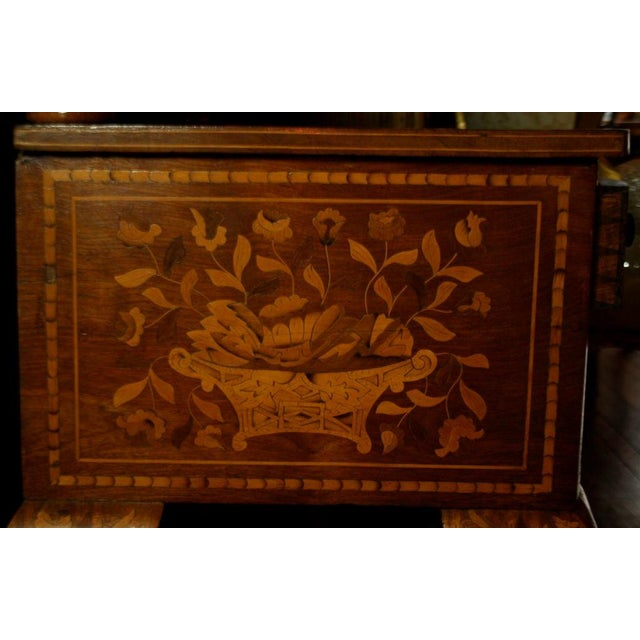 Late 19th Century Dutch Marquetry Dressing Table For Sale - Image 4 of 11