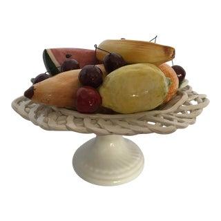1950's Cassano Italian Fruit Basket For Sale