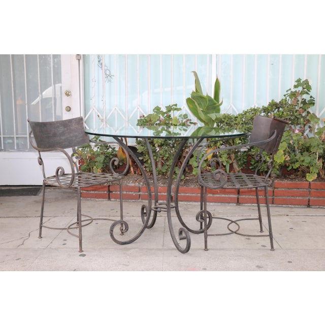 1990s Italian Wrought Iron Dining Set For Sale - Image 5 of 11
