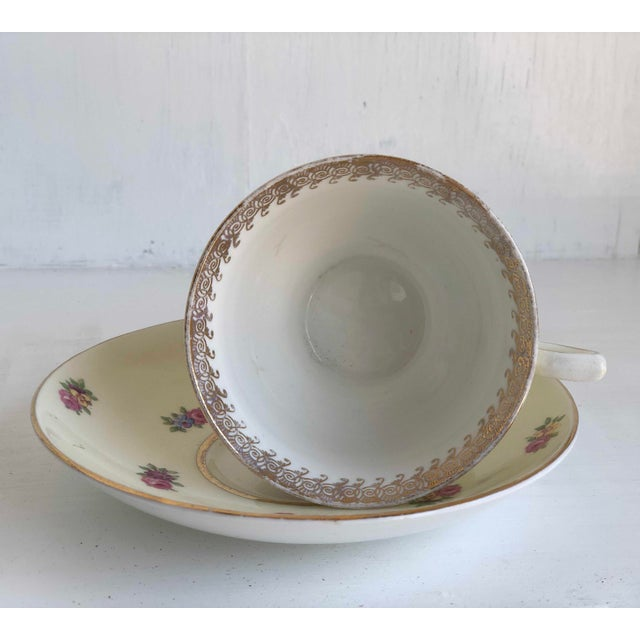 1930s Colclough Creamer, Tea Cup and Saucer Set For Sale - Image 5 of 12