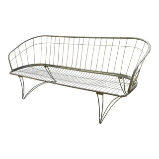 1950's Vintage Homecrest Wrought Iron Patio Couch For Sale
