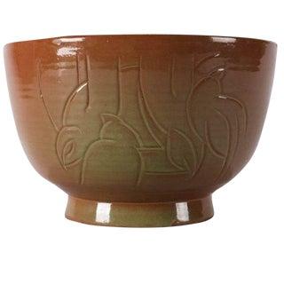 Randy Webb Mid-Century Modern Hand-Thrown Studio Pottery Bird Bowl For Sale