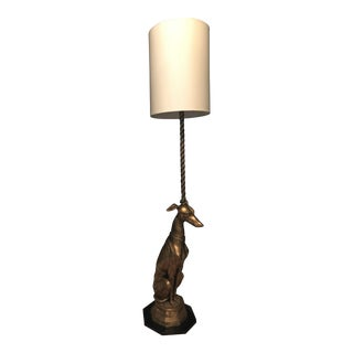 Solid Brass Greyhound Floor Lamp
