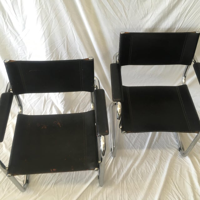 Cantilever Chairs by Marcel Breuer - Pair - Image 5 of 10