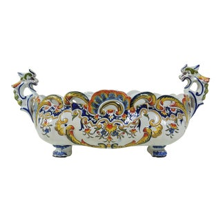 French Desvres Faience Jardinière For Sale
