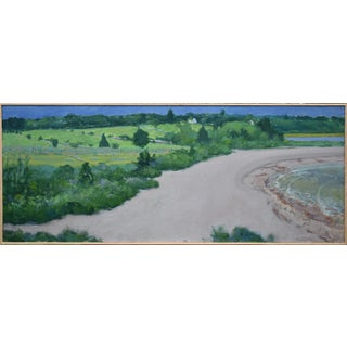 Contemporary Landscape Acrylic Painting of a Secluded Beach by Stephen Remick, Framed For Sale