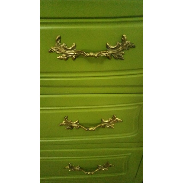 Green French Provincial Dresser - Image 5 of 5