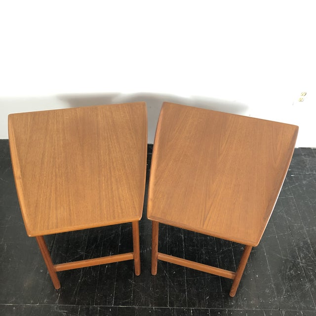 Wood 1960's Teak Frisco Designed by Folke Ohlsson Tables - a Pair For Sale - Image 7 of 13