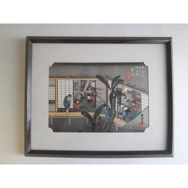 Japanese Wood Block Print by Hiroshige Ando - Image 2 of 11