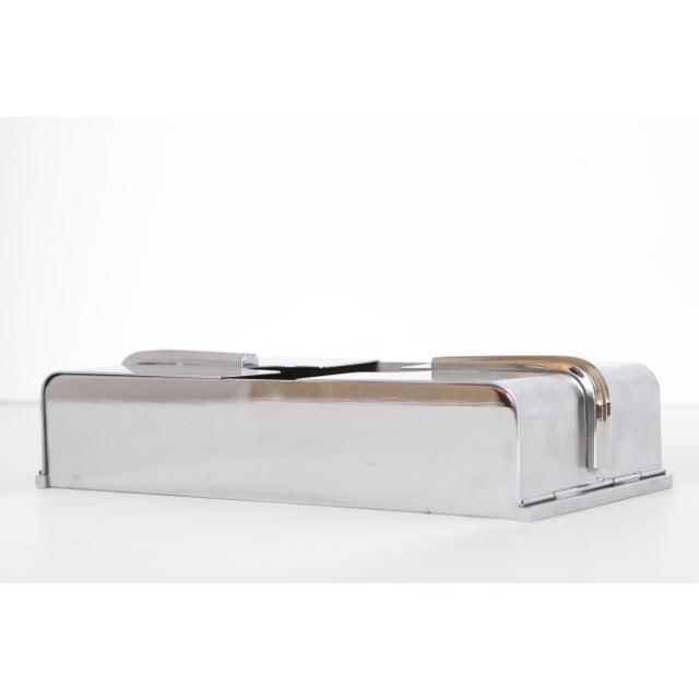 Vintage Machine Age Art Deco Streamline Tissue Dispenser - Image 4 of 11